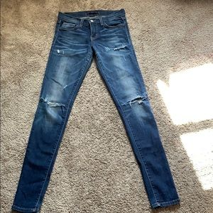 FLYING MONKEY Distressed Skinny Denim Jeans